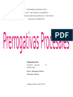 Prerrogativas Procesales, Cuadro Comparativo