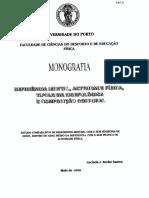 Deficiência mental, actividade física tipologia morfológica e composição corporal