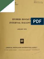 Hybrid  Rocket  Internal Ballistics