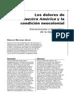 Machado-Los Dolores de Nuestra América y La Condición Neocolonial