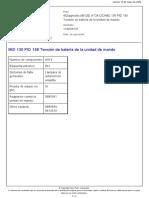 MID 130 PID 158 Tensión de Batería de La Unidad de Mando