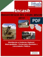 Boletin 10 Transf de Canon Minero Ancash 2016