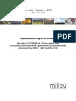 2009 - Raport Implementare Dir Munca Part-time Work