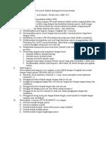 Plan of Action Praktek Management Keperawatan