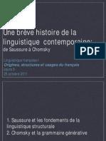 De Saussure à Chomsky