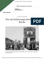Nur Mit Entlausungsschein Über Die Brücke Bonn