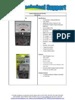 (TE 074 HU) Analog Multimeter 1