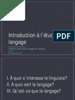 Introduction à l'Étude Du Langage