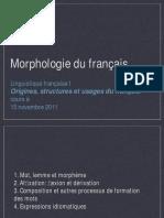 Morphologie Du Français