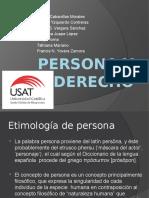 Persona y Derecho -GRUPO5-Diapositivas