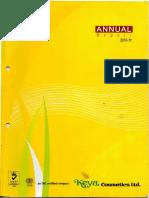 Keya Cosmetics 2011 annual report