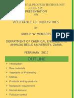 Vegetable Oil Industry