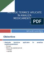 Metode de Analiza Termica a Medicamentelor