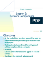Network Chapter2 - Network Component