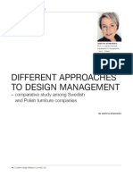 Different Approaches to Design Management