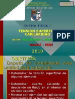 Tensión Superficial y Capilaridad