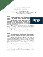 PANORAMA DO DIREITO CIVIL BRASILEIRO