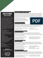 Dan Klimke Resume