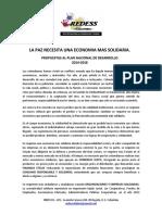 La Paz Econ Solid Propuestas Al Pnd 2014-2018