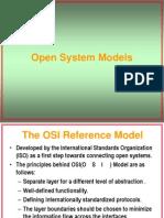 Open System Models - OSI Reference Model