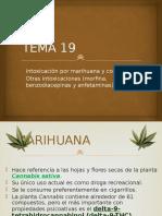 Tema 18 - Intoxicación Por Marihuana y Cocaína