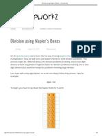 Division Using Napier's Bones – Homeworkz