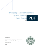 Designing a Power Distribution System for the ARCE 257 Revit Stru
