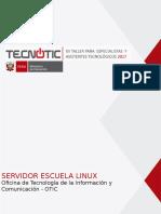 Ppt Servidor Escuela Linux