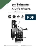 Manual Taladro Magnético SluggerHolemakerII