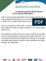 Press-release referente ao 4T15
