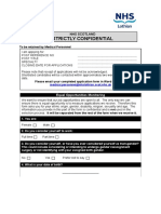 NHS Lothian Medical Application Form