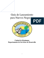 AISTENCIA  PARA APERTURA DE NEGOCIOS PEQUEÑOS Kissimmee Start Up Guide - SPANISH 2014 Modified Jun15