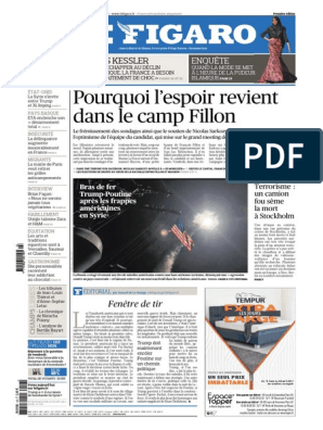Journal LA FIGUE Du Samedi 8 Avril 2017 | Marine Le Pen | France