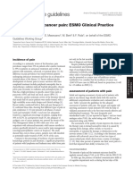 Managemento of Cancer Pain - ESMO Clinical Practice Guidelines