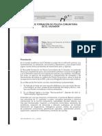 Manual Formación Policía Comunitaria, El Salvador