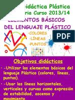 Unidad didctica plstica color lineas puntos
