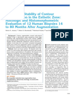 Simon S, 2014, Long-Term Stability of Contour augmentation in the esthetic zone