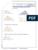 Exercícios Rel Métricas no triângulo 2017