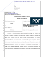 USA v Arpaio #124 Arpaio REPLY Re Motion to Stay Proceedings (Pending Snow Recusal Filings)