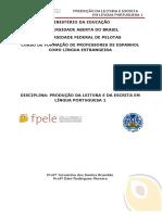 Produção Da Leitura e Da Escrita Em Língua Portuguesa