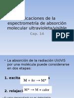 Aplicaciones de La Espectrometrc3ada de Absorcic3b3n Molecular Uv Vis