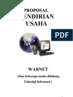 Proposal Usaha Warnet Teknolog