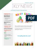 weekly newsletter- apr  10- apr  14