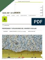 Propiedades y Aplicaciones Del Concreto Celular