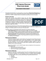 CDC UP Requirements Management Practices Guide