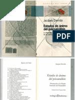 Estados de Ánimo Del Psicoanálisis- Derrida