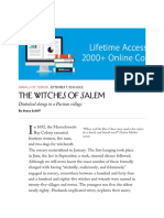 The New Yorker - Salem Witch Trials
