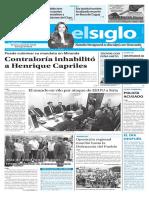 Edición Impresa El Siglo 08-04-2017