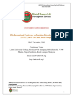 ICTEL Proceedings