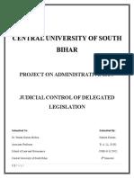 Judicial Control of Delegated Legislation